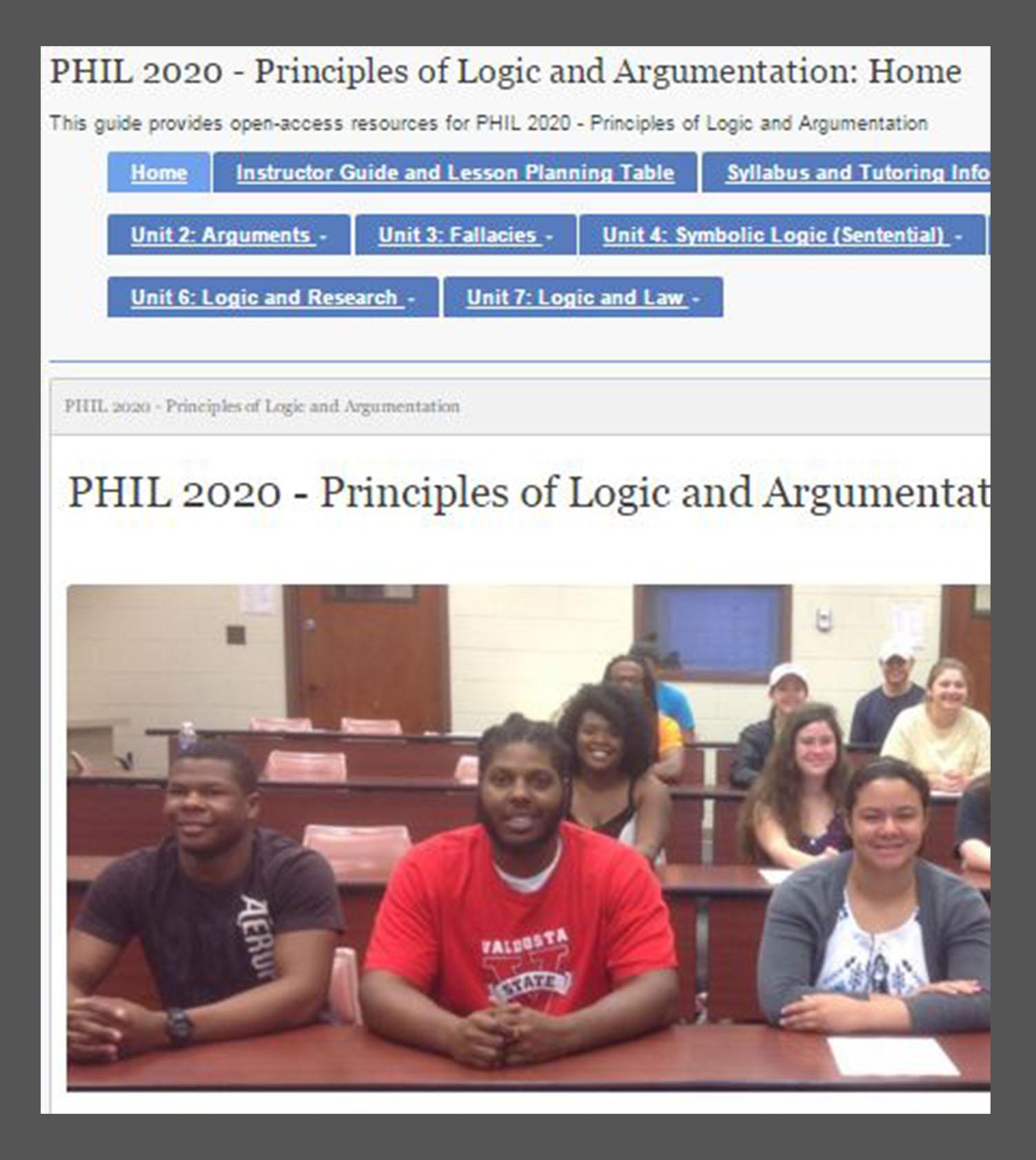 Image of book titled Principles of Logic and Argumentation