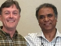 image of Soumitra Chattopadhyay and Jeffrey Linek